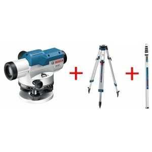 Нивелир оптический Bosch GOL 26D + штатив BT160 рейка GR500 (0.601.068.002)
