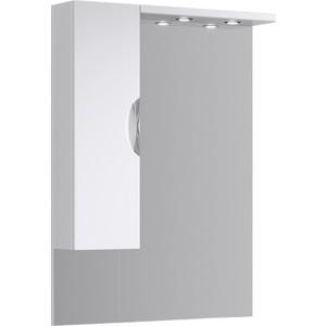 Зеркало-шкаф Aqwella Ecoline 85x108 с подсветкой, белое (Eco-L.02.08)