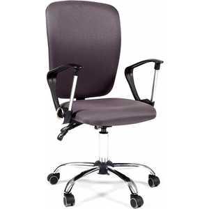 Офисное кресло Chairman 9801 хром, ткань серая цена
