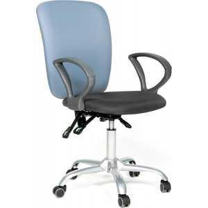 Фото - Офисное кресло Chairman 9801 сид15-13 серый/сп 15-41 голубой ly 9801 99 38