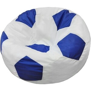 Кресло-мешок Мяч Пазитифчик Бмо8 бело-синий
