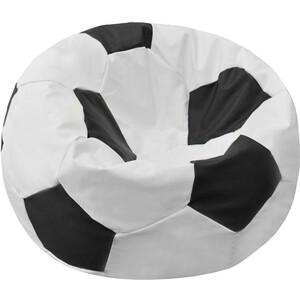 Кресло-мешок Мяч Пазитифчик Бмэ8 бело-черный