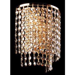 Настенный светильник Eurosvet 3122/2 золото/тонированный хрусталь Strotskis цена