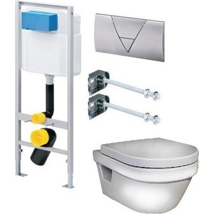 Комплект Gustavsberg Viega с унитазом Gustavsberg Hygienic Flush WWS безободковый с сиденьем микролифт фото