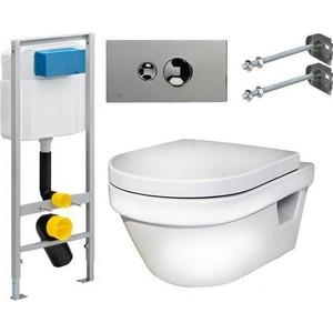Комплект Gustavsberg Viega с унитазом Hygienic Flush WWS безободковый сиденье микролифт