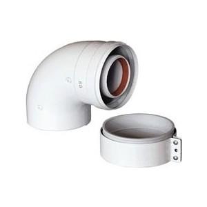 Отвод BAXI коаксиальный DN 60/100 90 градусов (KHG 714101410)