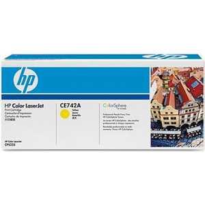 Картридж HP CE742A картридж hp ce742a 307a для принтеров hp color laserjet cp5225 жёлтым 7300 страниц