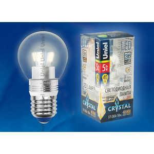 Светодиодная лампа Uniel LED-G45P-5W/WW/E27/CL ALC02SL