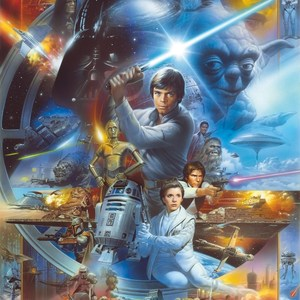 Фотообои Komar STAR WARS Luke Skywalker Collage 184 х 254см. (4-441)