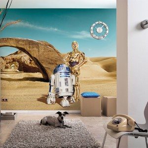 Фотообои Komar STAR WARS Lost Droids 368 х 254см. (8-484) фотообои star wars star wars ep7 collage 3 68х2 54 м