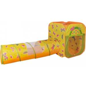 Игровая палатка Ching-Ching Бабочки, квадрат/тоннель + 100 шаров (CBH-23) цены онлайн