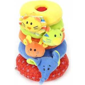 Развивающая игрушка пирамидка I-Baby Друзья из джунглей B-7202