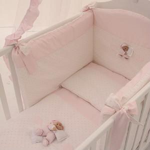 цена Комплект в кроватку 4 предмета NaNan Puccio розовый 12417R онлайн в 2017 году