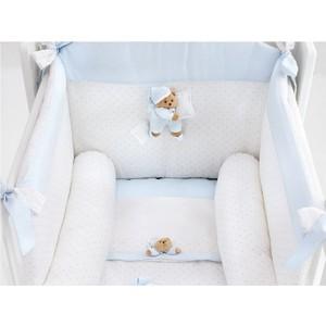 Комплект в кроватку 4 предмета NaNan Puccio светло-голубой 12417A