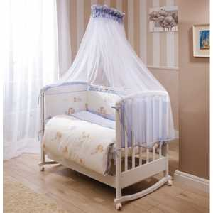 Комплект в кроватку 4 предмета Perina Тифани Неженка голубой Т4-01.4