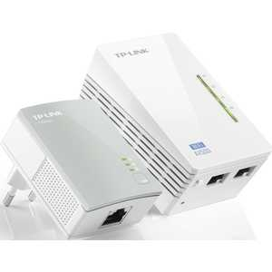 Комплект адаптеров Powerline TP-LINK TL-WPA4220KIT сетевой адаптер powerline wifi tp link tl wpa4220kit ethernet