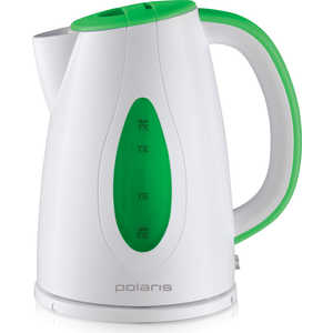 Чайник электрический Polaris PWK 1752C, зеленый/белый чайник электрический polaris pwk 1757ca красный