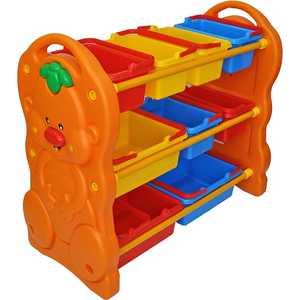Стеллаж для игрушек QIAOQIAO с ящиками 90х42х80см QQ12070-5
