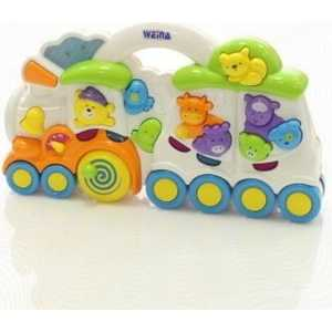 Развивающая игрушка WEINA музыкальная Веселый поезд 2106 игрушка weina пианино со стулом 2079