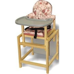 Стульчик для кормления ВИЛТ СТД 07 пластиковая столешница розовый СТД0706