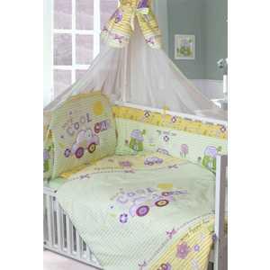 Комплект в кровать Золотой гусь 7 предметов Cool Car зеленый 1244 постельный сет 7 предметов золотой гусь степашка зеленый