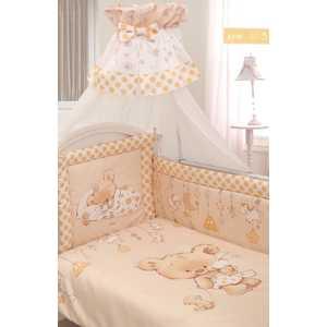 Комплект в кровать Золотой гусь 7 предметов Мика сатин молочный 1113
