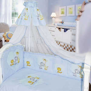 Комплект в кровать Золотой гусь 7 предметов Сафари голубой 1212 постельный сет 7 предметов золотой гусь сладкий сон розовый