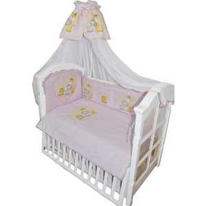 Комплект в кровать Золотой гусь 7 предметов Сафари Розовый 1216 постельный сет 7 предметов золотой гусь степашка зеленый
