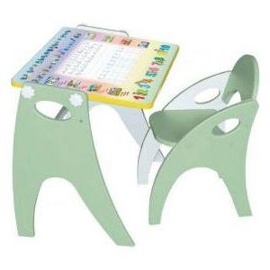 Набор мебели Интехпроект Части света парта-мольберт стульчик Салатовый 14-362