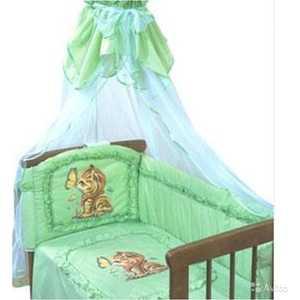 Бортик в кроватку Золотой гусь Аленка зеленый 4014
