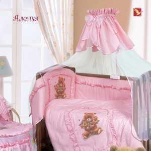 лучшая цена Бортик в кроватку Золотой гусь Аленка розовый цвета/рисунки 4016