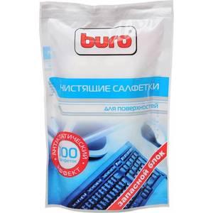 Чистящие средство Buro BU-Zsurface чистящие салфетки для поверхностей запасной блок к тубе 100 шт