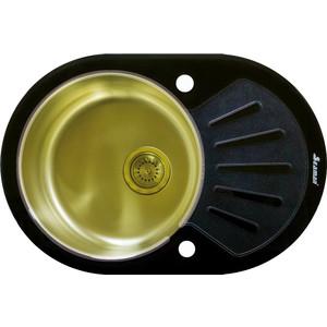 Фото - Кухонная мойка Seaman Eco Glass SMG-730B.B Gold PVD кухонная мойка seaman eco glass smg 730b b