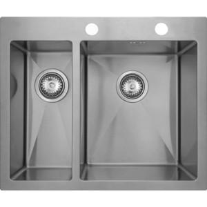 Кухонная мойка Seaman Eco Marino SMV-575L.B мойка кухонная seaman eco marino smv 510 вентиль автомат smv 510 b