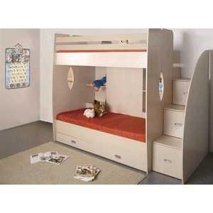 Кровать 2-х ярусная ОЛМЕКО Д1 дуб линдберг цены онлайн