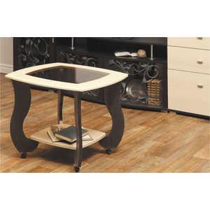 Стол журнальный ОЛМЕКО Сатурн-М01 венге/клен азия стекло тонированное с рисунком №2 mayer стол журнальный mayer 2 венге стекло белое