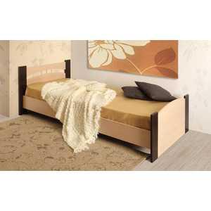 Кровать ОЛМЕКО 90х200 венге/дуб линдберг фото