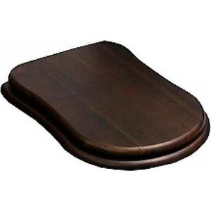 Сиденье для унитаза Cezares Laredo с микролифтом, деревянное орех, фурнитура золото (CZR-T-165W-S-G / CZR-165W-S-G)