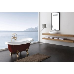 лучшая цена Акриловая ванна BelBagno 170x80 ножки, слив-перелив, хром (BB04-ROS-CRM)