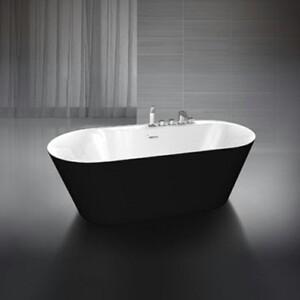 Акриловая ванна BelBagno 178x84 слив-перелив, бронза (BB14-NERO/BIA-BRN)