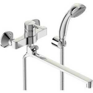 Смеситель для ванны Vidima Логик поворотный излив 320мм с аксессуарами (BA281AA) смеситель vidima logik ba281aa