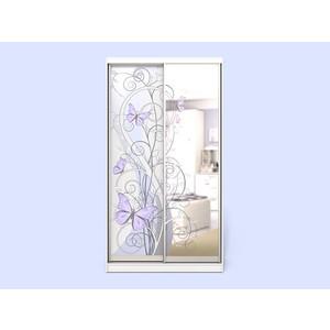 Шкаф-купе СКАНД-МЕБЕЛЬ Леди 2-2 с зеркалом и встроенным комодом мебель и