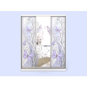 Шкаф-купе СКАНД-МЕБЕЛЬ Леди 3-2 с зеркалом и встроенным комодом мебель и