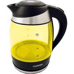 Чайник электрический StarWind SKG2215 желтый/черный цена и фото