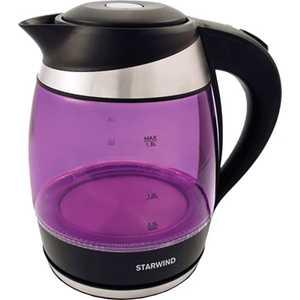 лучшая цена Чайник электрический StarWind SKG2217 фиолетовый/черный