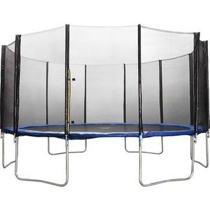Батут DFC Trampoline Fitness 16 футов с сеткой (488см) батут dfc trampoline fitness 18 футов с сеткой 549 см