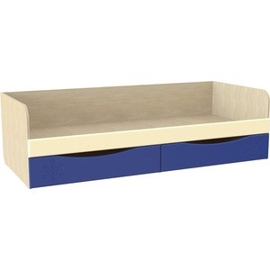 Кровать с ящиками Compass Капитошка ДК-11 синий/ваниль шагрень