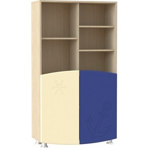 Шкаф для книг Compass Капитошка ДК-4 синий/ваниль шагрень сандалии капитошка капитошка mp002xg00ips