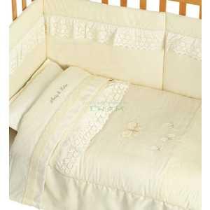 Комплект в кровать Andy and Helen Abbraccio Elegant с кристаллами (декор - мишка-мама) 6 предметов крем E6/00V2R54 6P LB С цены
