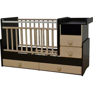 Кроватка трансформер Антел Ульяна-4 маятник комод 2 ящика венге/клён папка регистратор rainbow a4